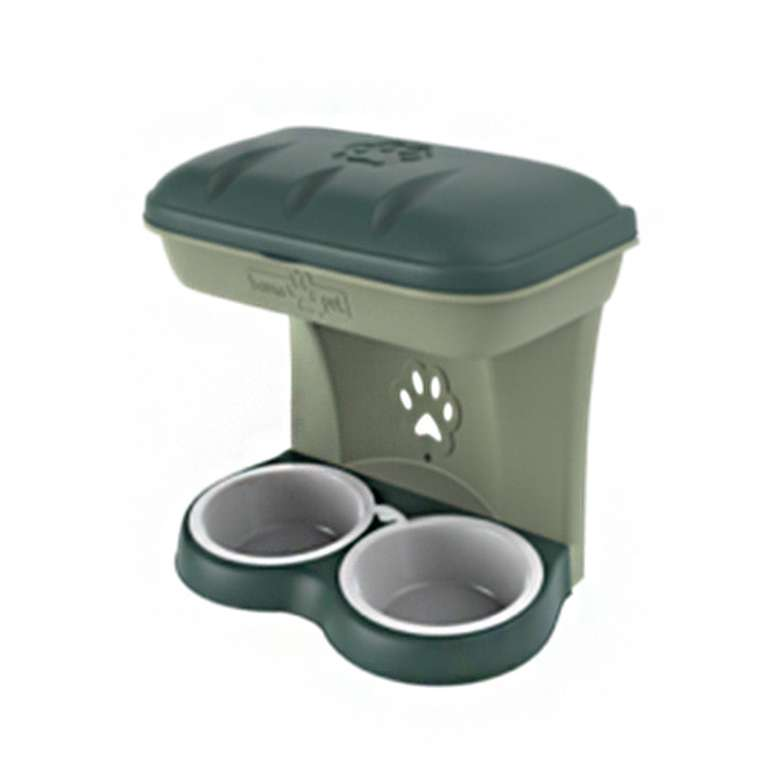 Bama Maxi Food Stand Köpek Mama Kabı - Yeşil