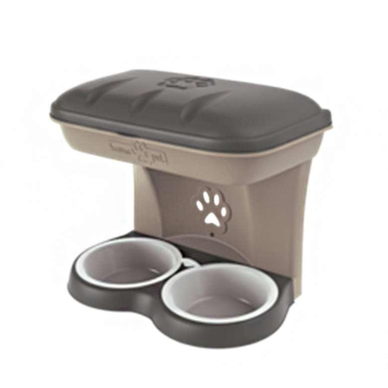 Bama Maxi Food Stand  Köpek Mama Kabı - Kahve