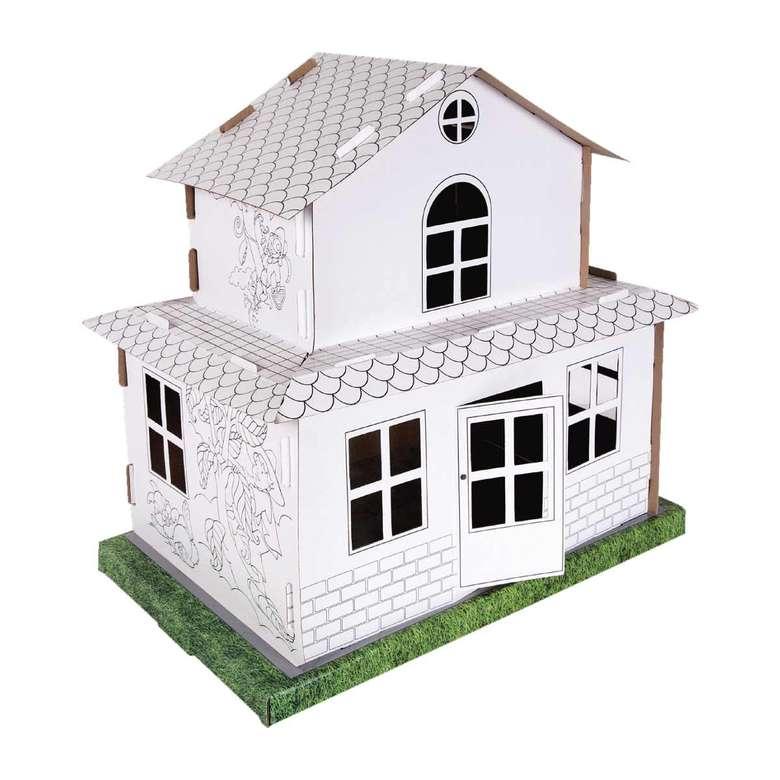 İki Katlı Karton Boyama Evi