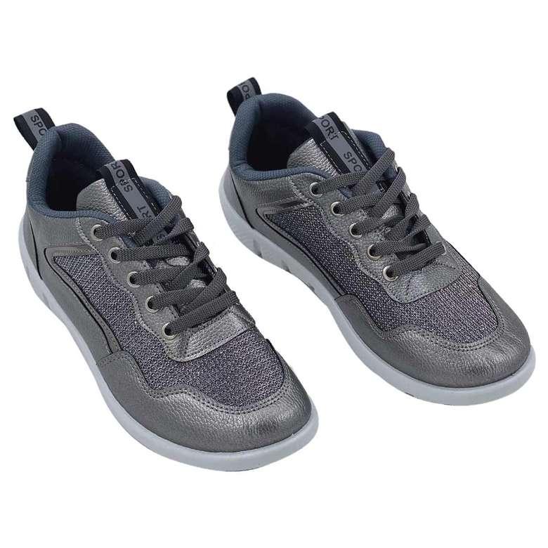 Kadın Günlük Ayakkabı Simli Gri