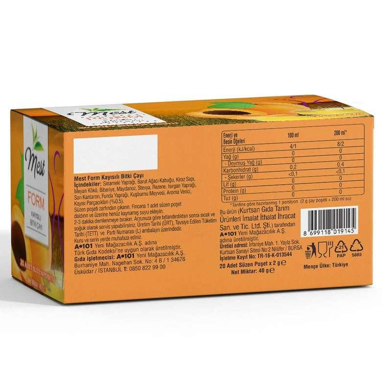 Mest Kayısılı Form Çayı 20'li
