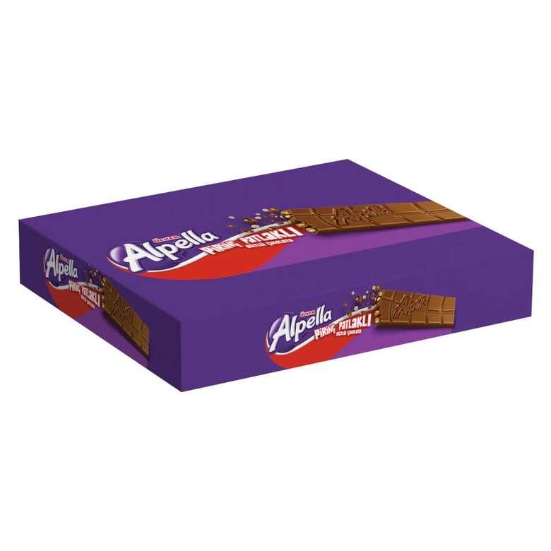 Ülker Alpella Pirinç Patlaklı Sütlü Çikolata 8X30 G