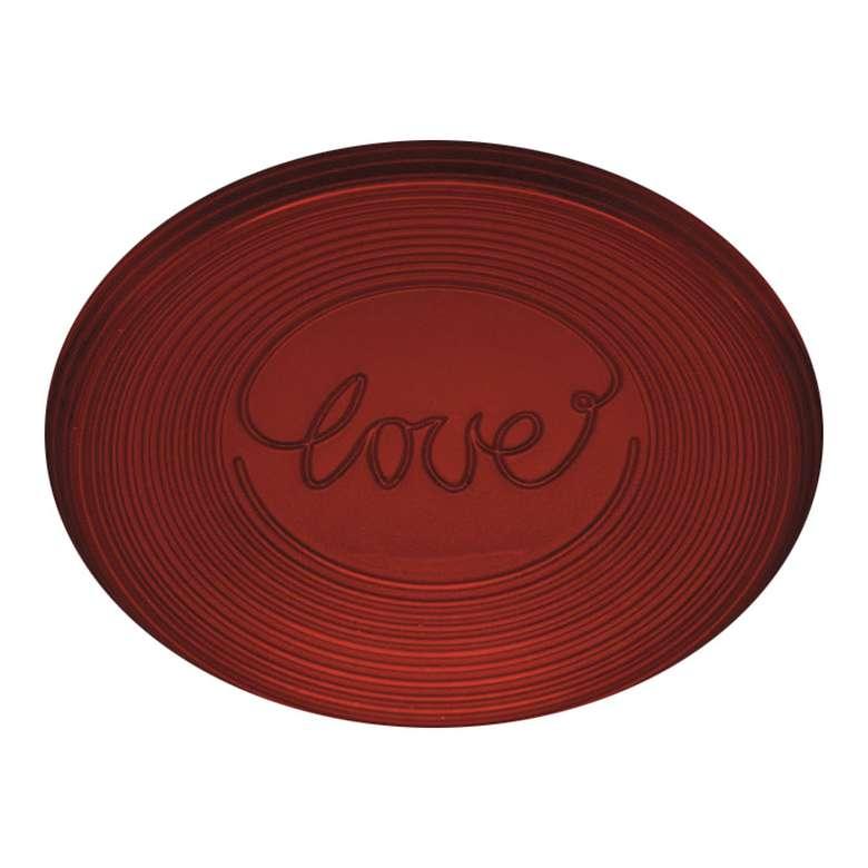 Cam Tabak 21 Cm Renkli - Kırmızı