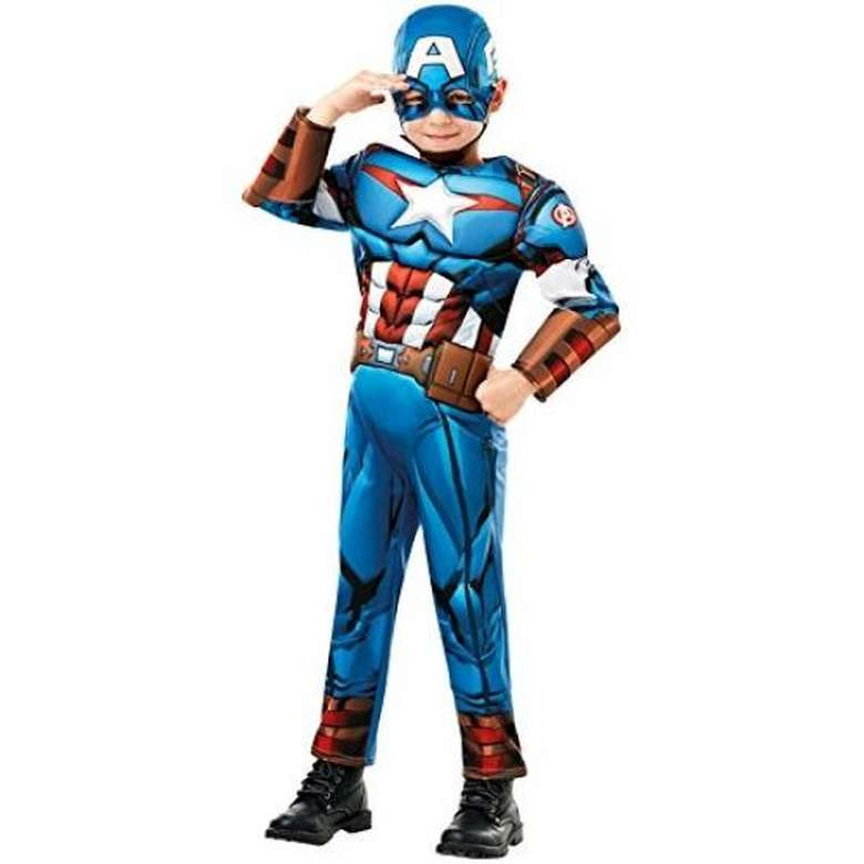 Kostüm Kaptan Amerika 640, Mavi, 7-8 Yaş
