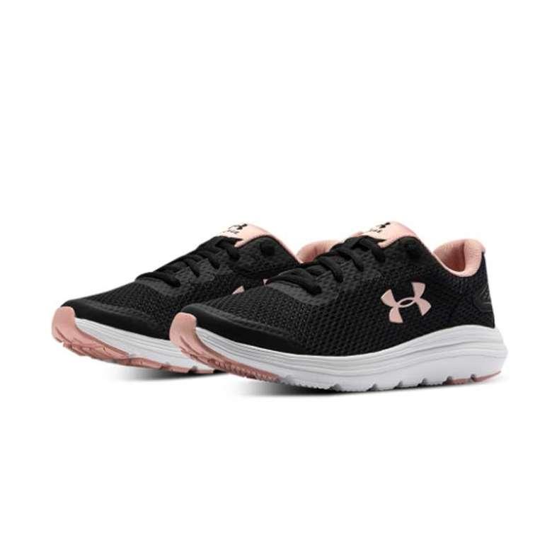 Under Armour 3022605 Kadın Spor Ayakkabı  - Siyah-Pembe, 37,5