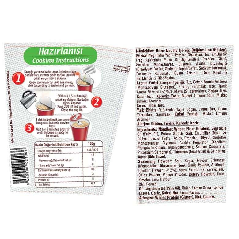 İndo Mie Noodle Bardak Sebzeli 60 G