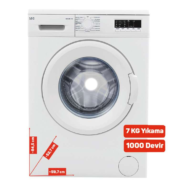 Seg SCM-7101 Çamaşır Makinesi