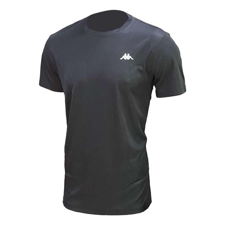 Kappa Erkek Sporcu T-Shirt - Siyah, L