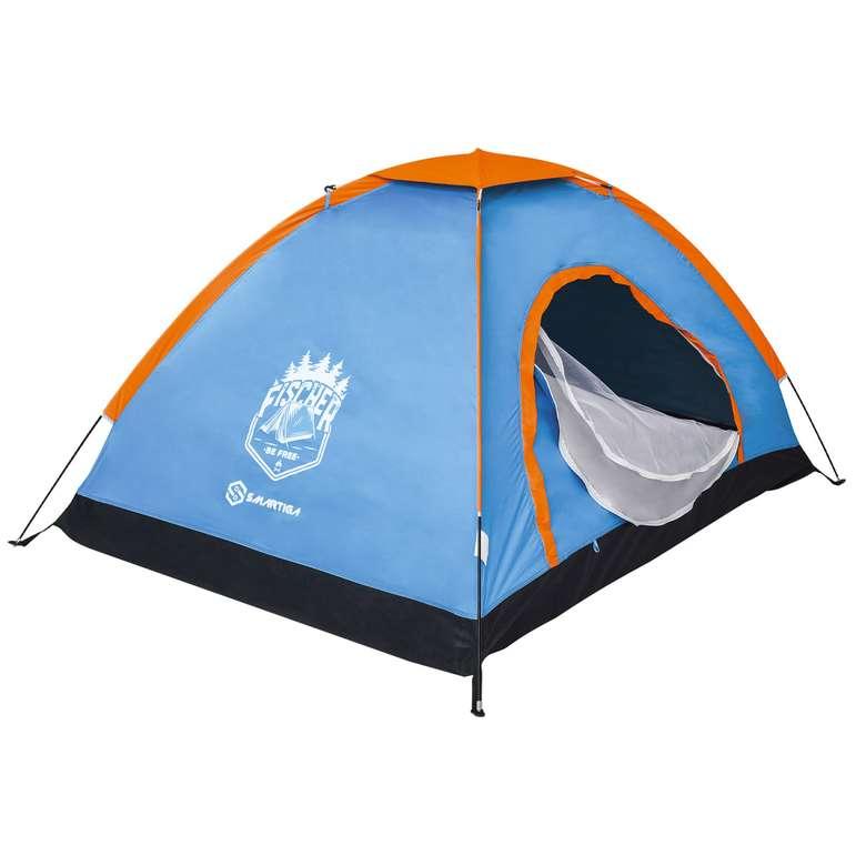 2 Kişilik Kamp Çadır Manuel - Mavi-turuncu