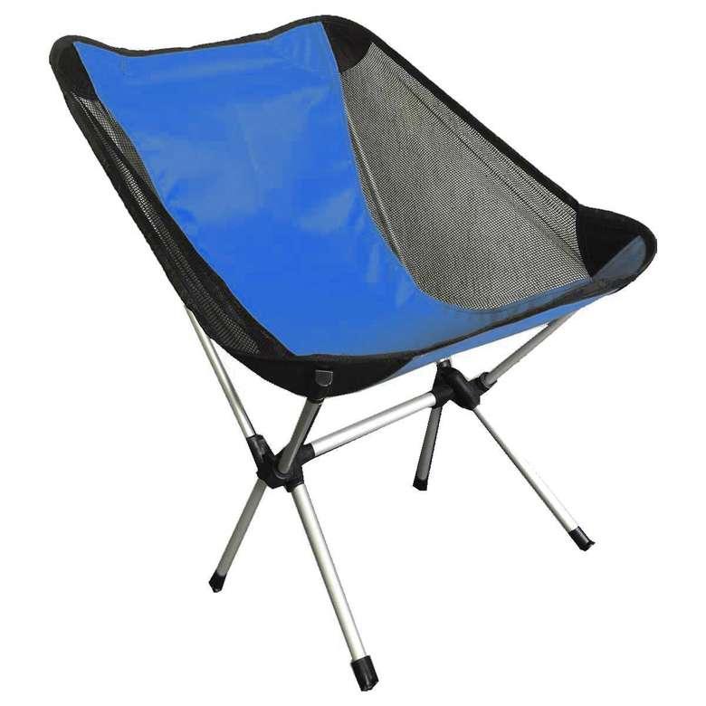 Katlanabilir Alüminyum Kamp Sandalyesi - Mavi