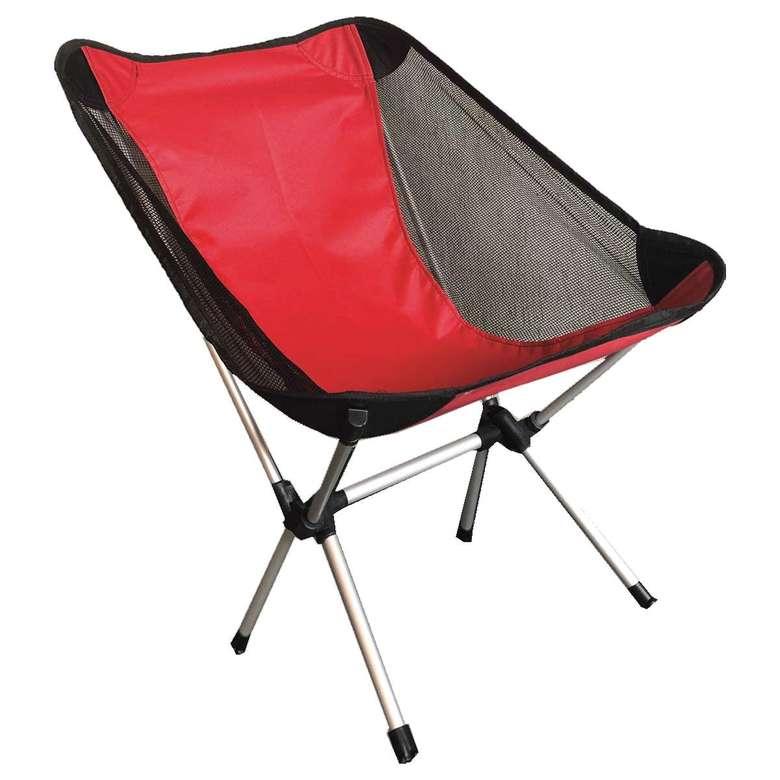 Katlanabilir Alüminyum Kamp Sandalyesi - Kırmızı
