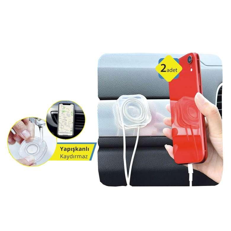 Araç İçi Kablo Düzenleyici Ve Kaydırmaz Telefon Tutucu