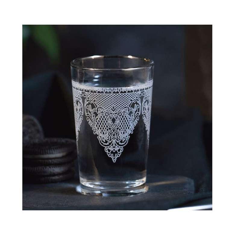 Kahve Yanı Su Bardağı Yaldızlı 6'Lı - Gri