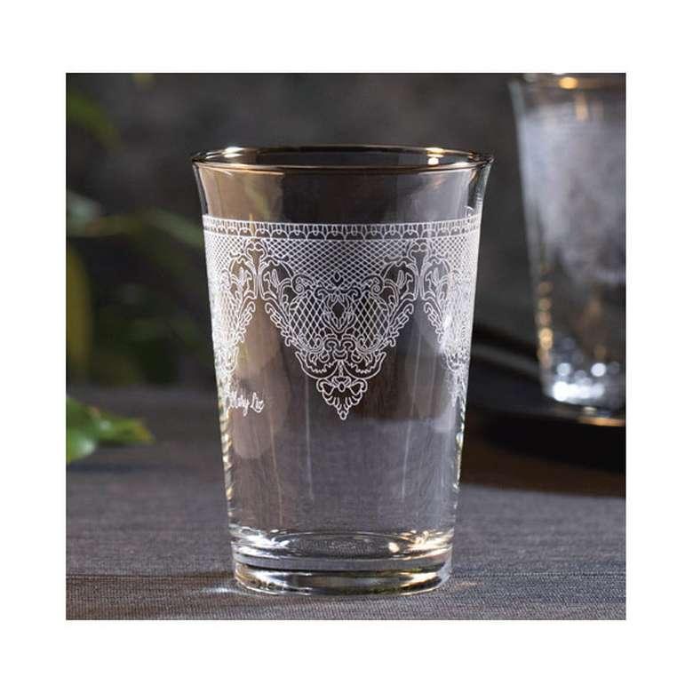 Kahve Yanı Su Bardağı Yaldızlı 6'Lı - Sarı