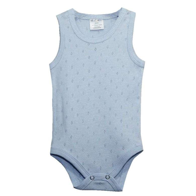 Bebek Jakarlı Çıtçıtlı Body - Mavi, 0-3 Yaş