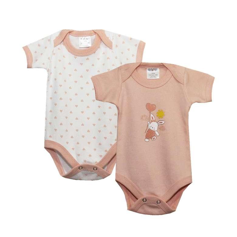 Bebek Yarım Kol Çıtçıtlı Body - Turuncu, 6-9 Yaş