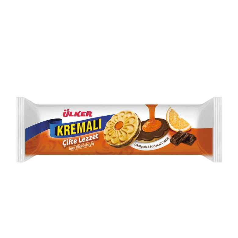 Ülker Kremalı Çifte Lezzet Çikolatalı Portakal Soslu Bisküvi 84 g