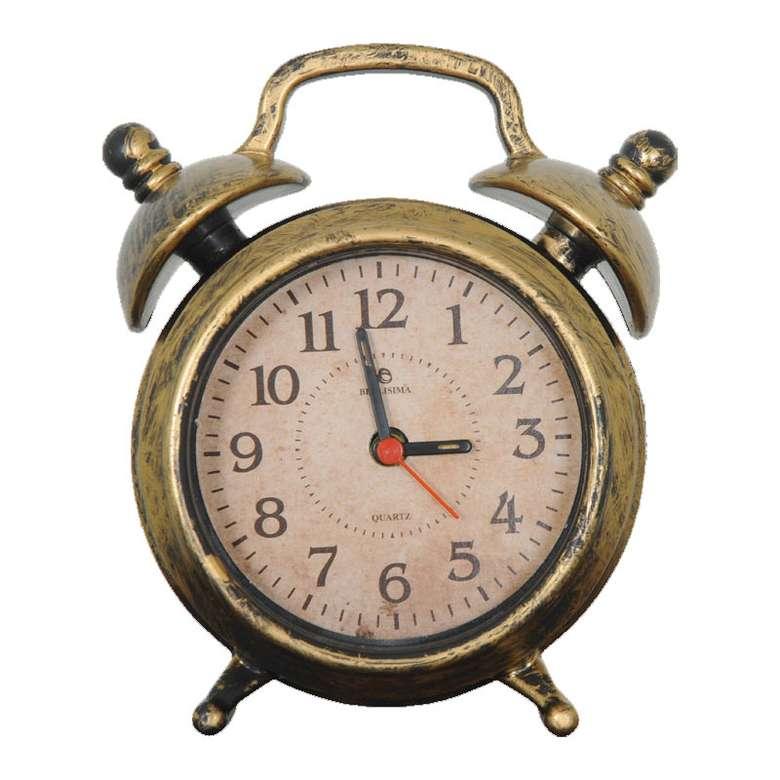 Alarmlı Dekoratif Masa Saati - Altın