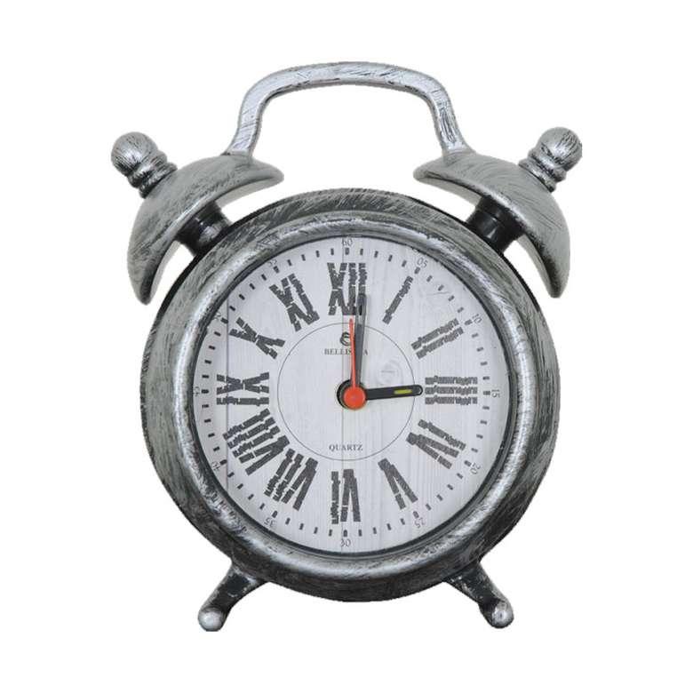 Alarmlı Dekoratif Masa Saati - Gümüş