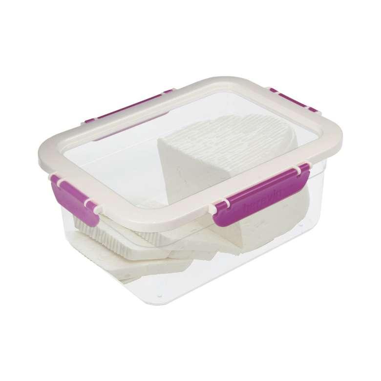 Plastik Kilitli Saklama Kabı 2,2 L - Mor