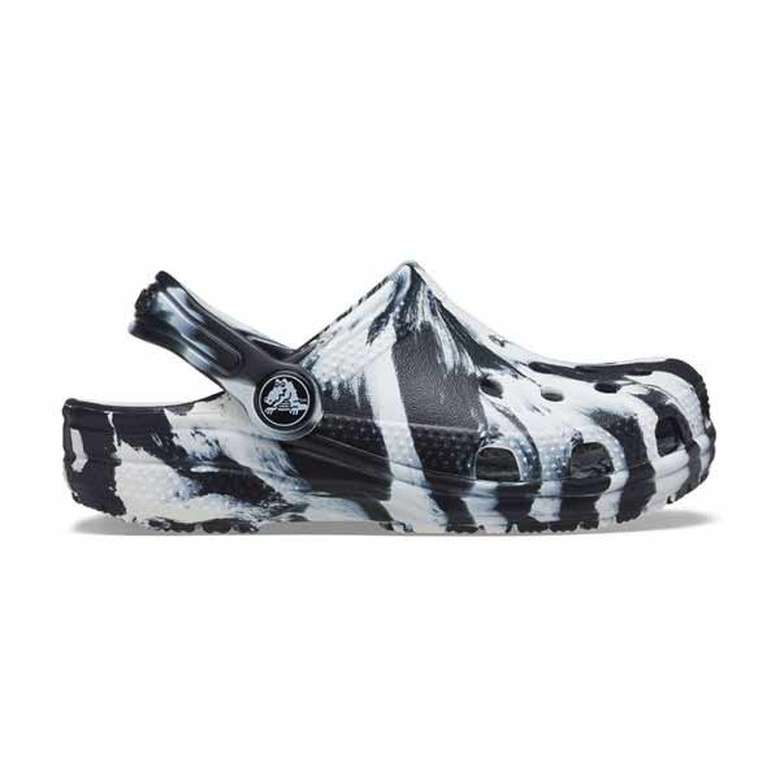 Crocs 207002-103 - Çocuk Terlik - Siyah-Beyaz, 23-24