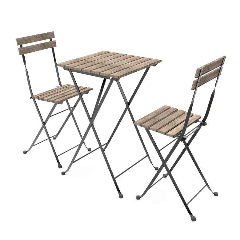 Ahşap Katlanabilir Masa Sandalye Takımı