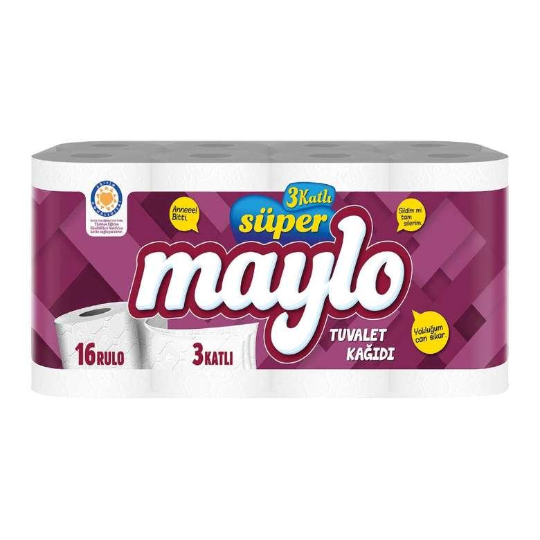 Maylo 3 Katlı Tuvalet Kağıdı 16'lı