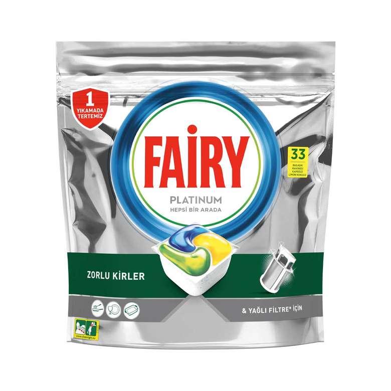 Fairy Platinium Bulaşık Makinesi Kapsülü 33'Lü