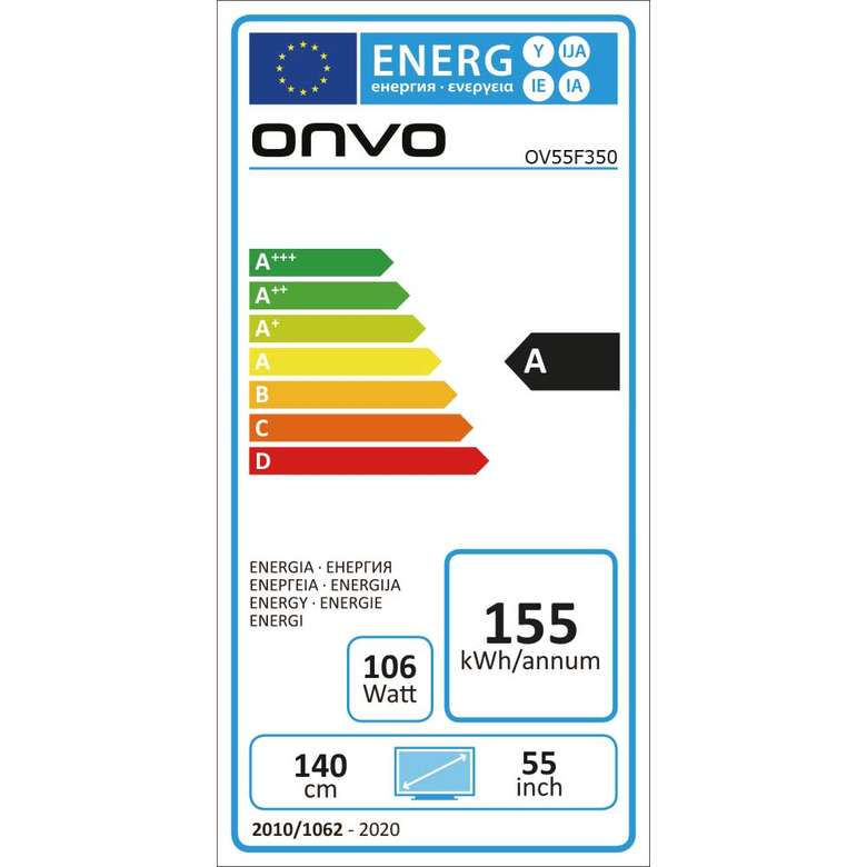 "Onvo OV55F350 55"" Ultra HD Android Smart Led Tv"