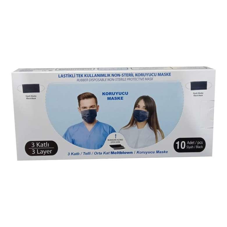 Meltblownlu Renkli Yetişkin Maske, Mavi