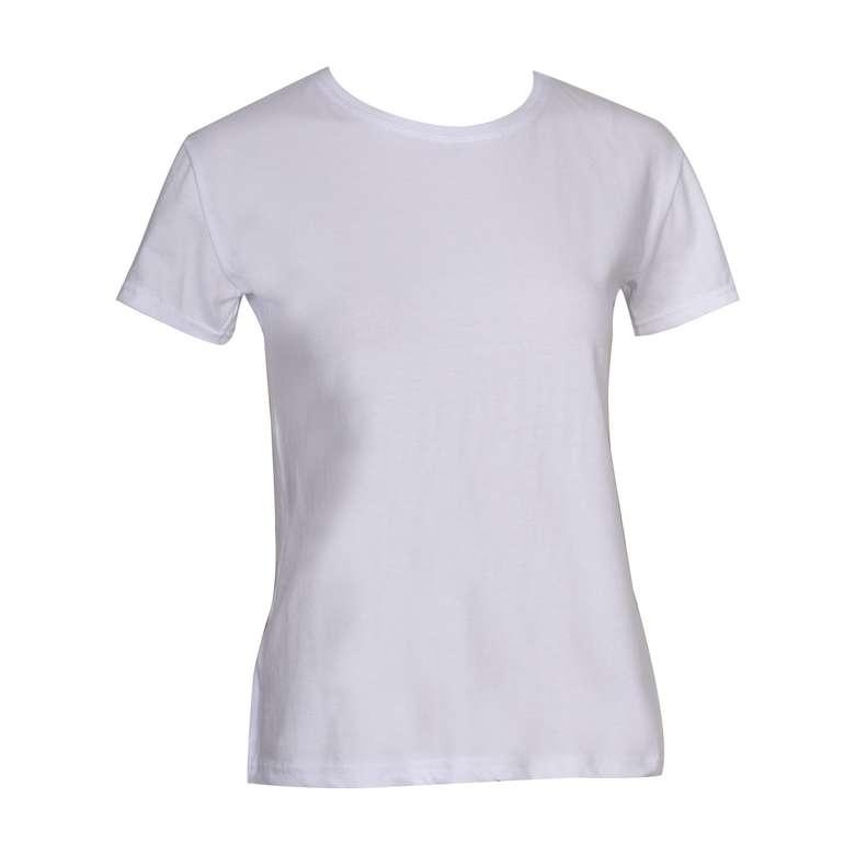 Silk & Blue Kadın Basic T-shirt Beyaz