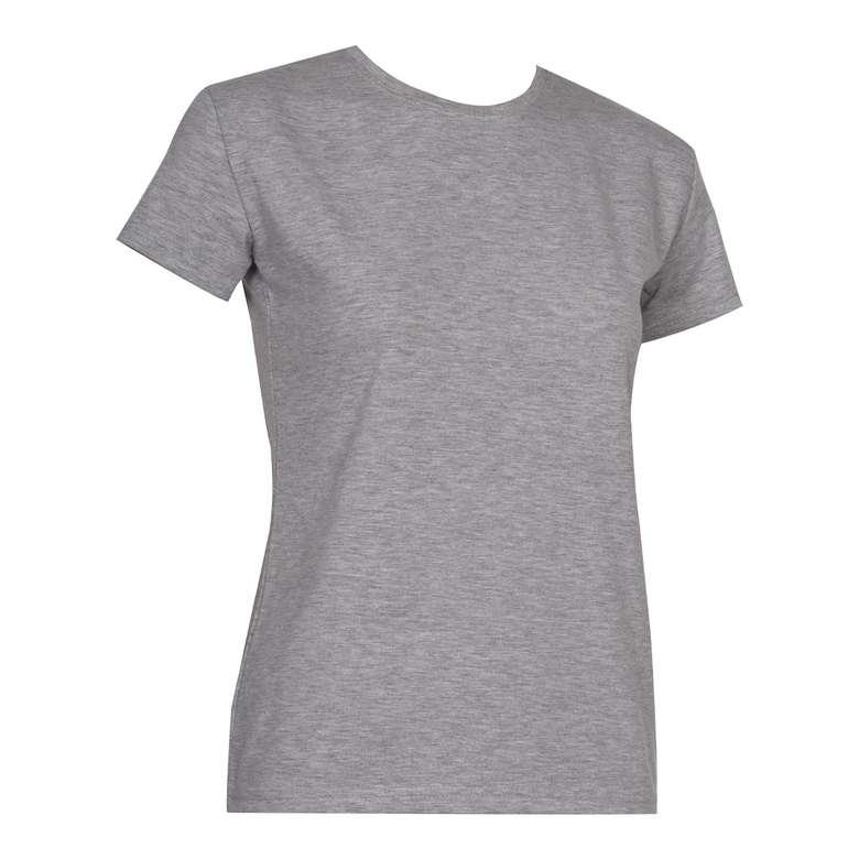 Bayan Basic T-Shirt Silk&Blue - Gri, S
