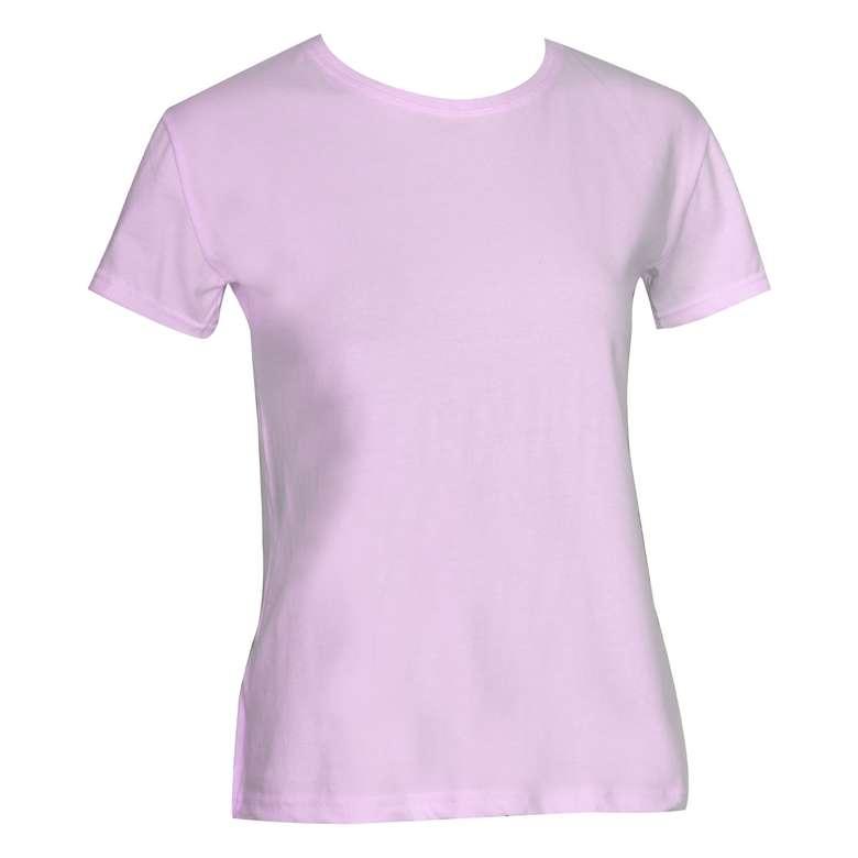 Bayan Basic T-Shirt Silk&Blue - Pembe, M