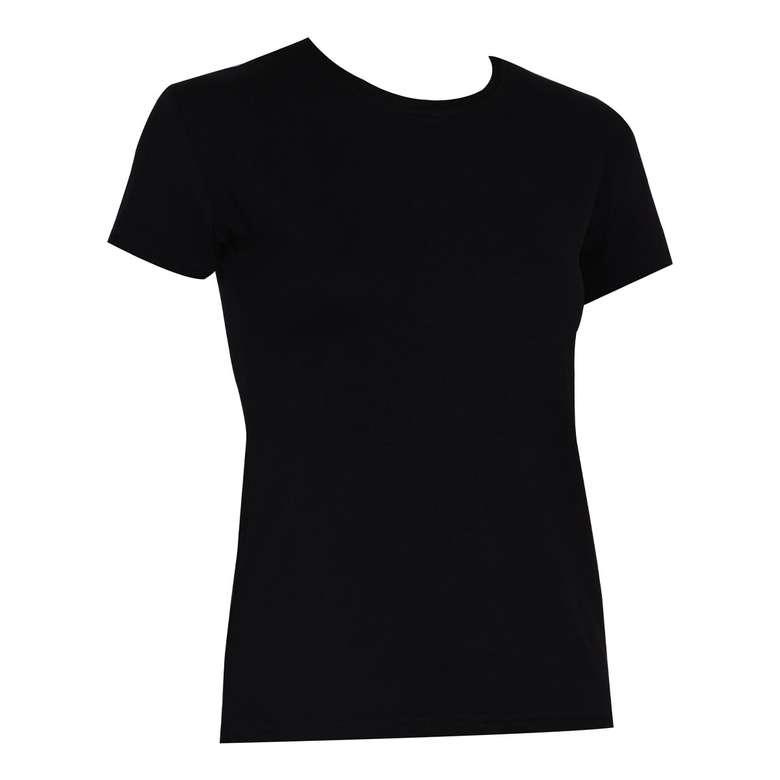 Bayan Basic T-Shirt Silk&Blue - Siyah, S