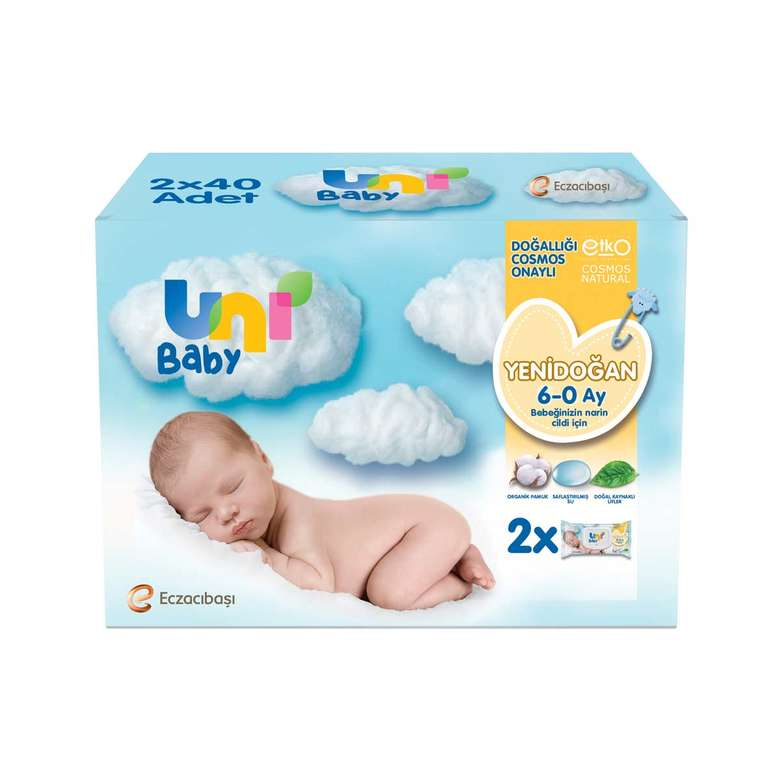 Uni Baby Yenidoğan Havlu 2X40 3X40