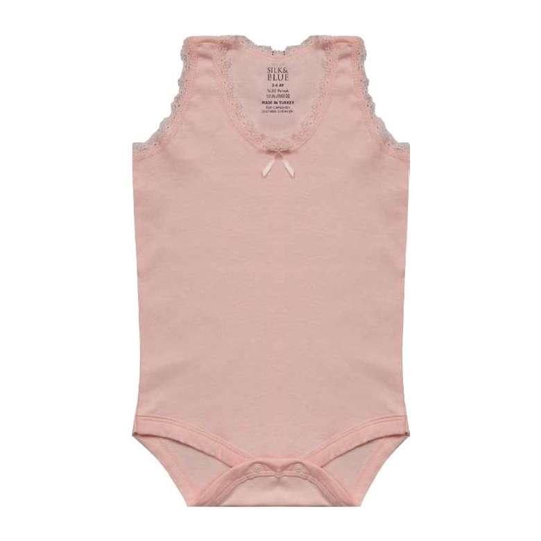 Bebek Çizgili Çıtçıtlı Body Atlet - Pembe, 0-3 Ay