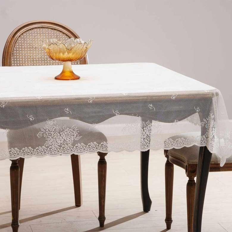 Örme Masa Örtüsü (145X220 Cm) - Koyu Krem