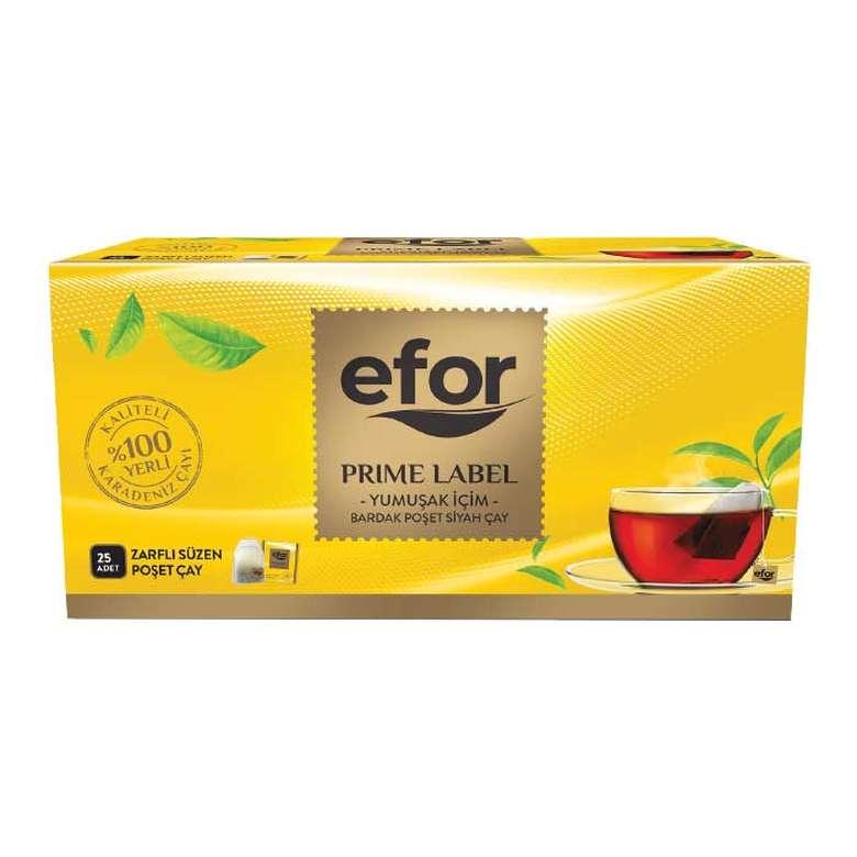 Efor Prime Label Çay Bardak Poşet 25Li