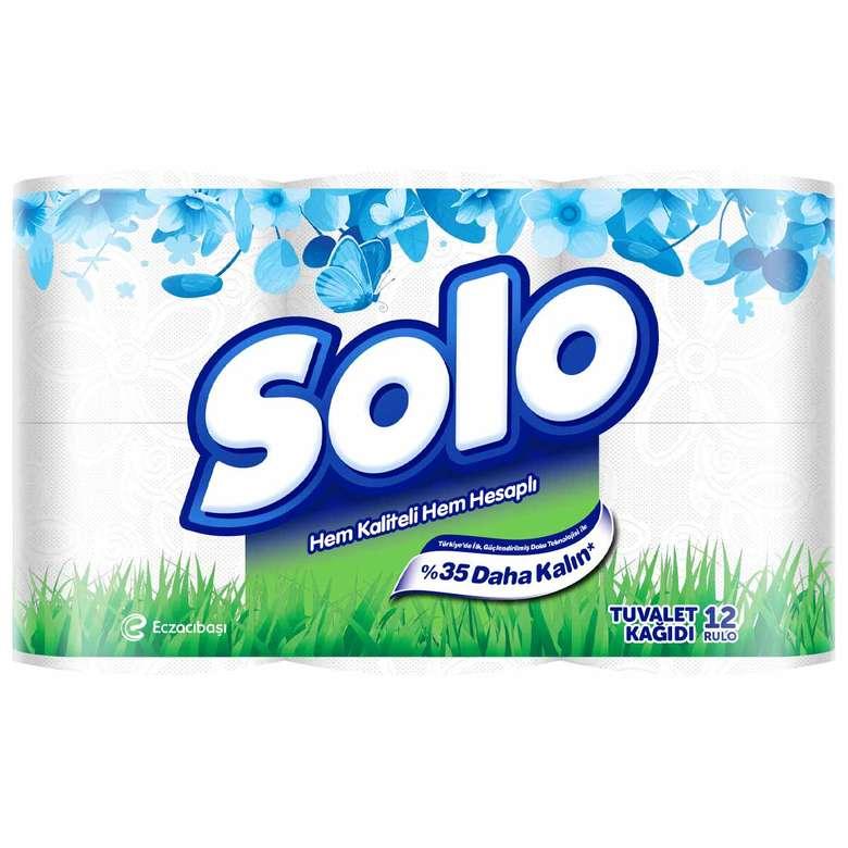 Solo Tuvalet Kağıdı Çift Katlı 12'Li