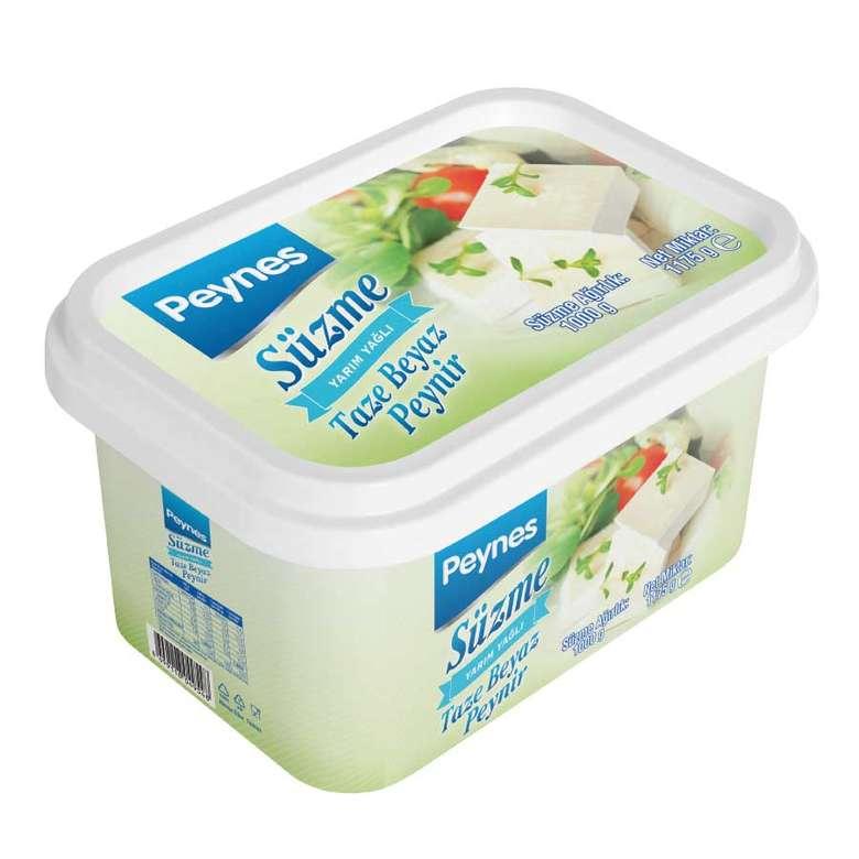 Peynes Beyaz Peynir Süzme Yarım Yağlı 1 Kg