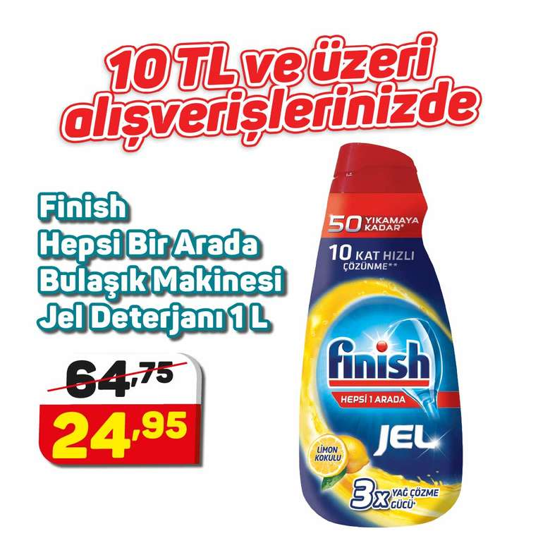 Finish Bulaşık Makinesi Jel Deterjan Limon 1 L