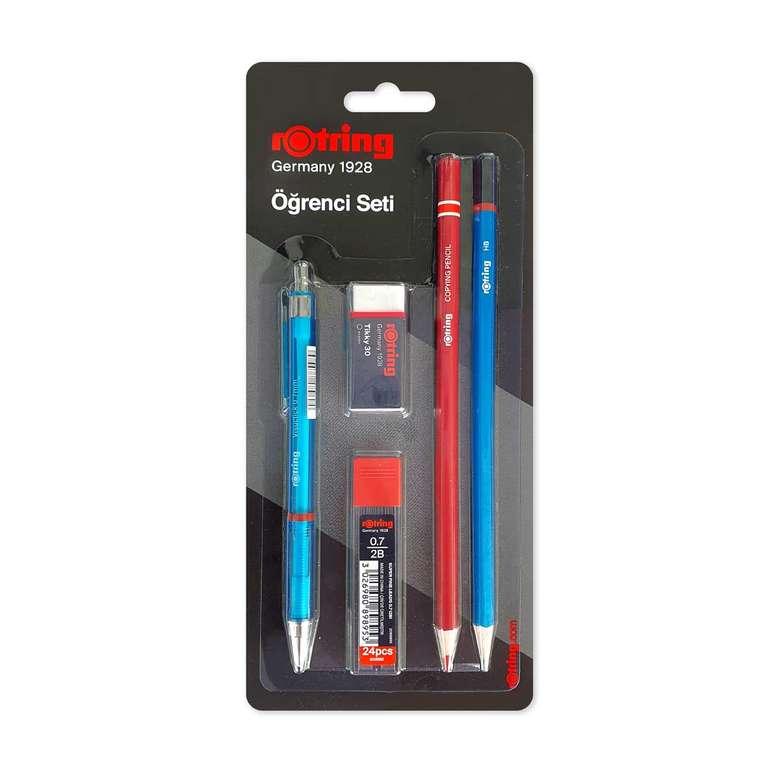 Rotring Kalem Seti, Visuclick 07 uçlu kalem, 2B uç, silgi, kurşun kalem, kırmızı  kalemi