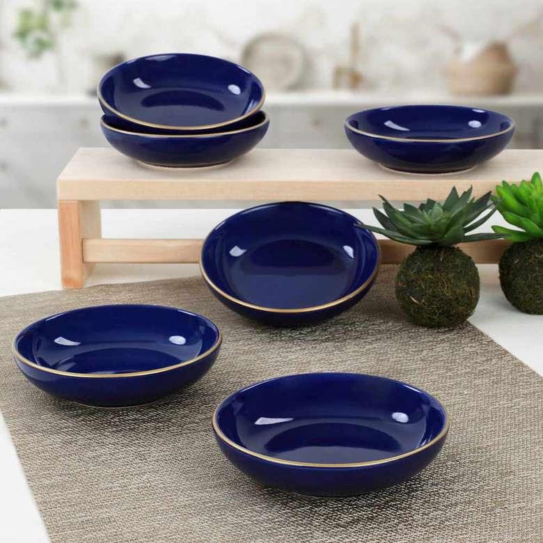Keramika Kobalt Alka Çerezlik/Sosluk 13 cm 6 adet