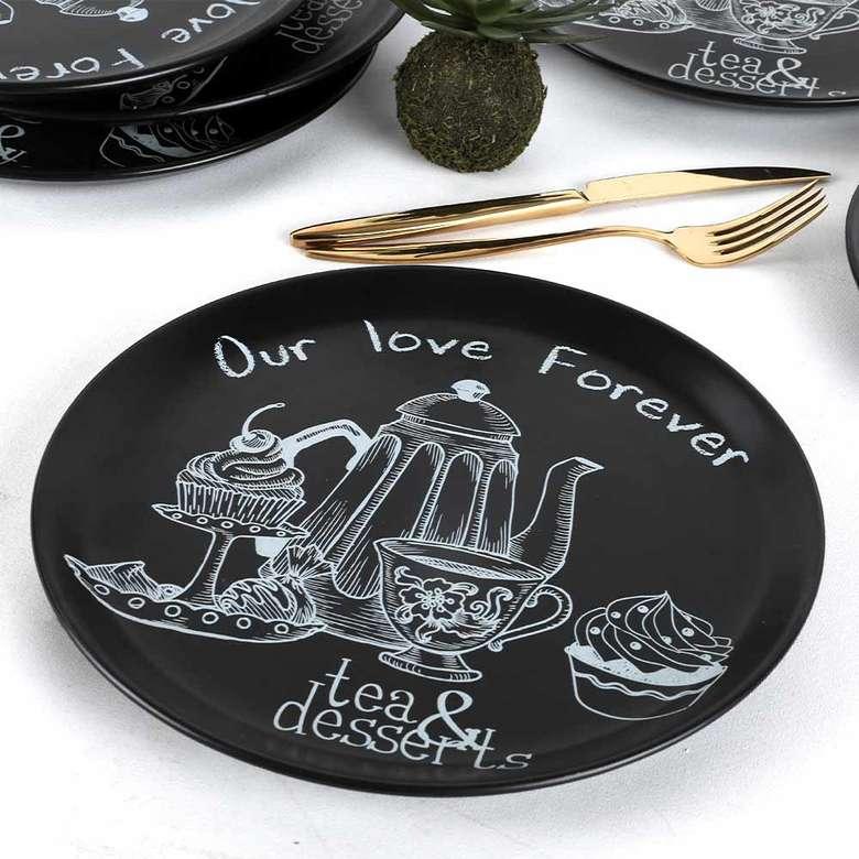 Keramika Tea & Deserts Hitit Servis Tabağı 25 cm 6 adet