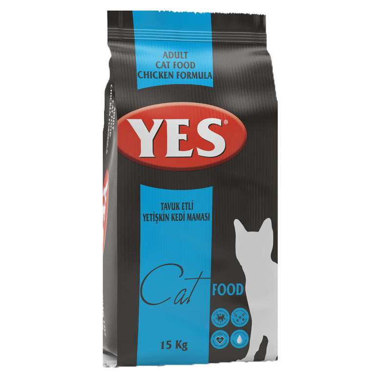 Yes Cat Tavuklu Yetişkin Kedi Maması 15 Kg