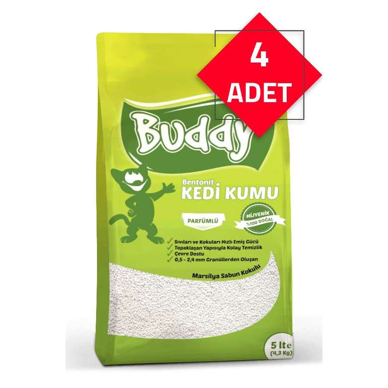 Buddy Kedi Kumu Sabun Kokulu 20 Lt