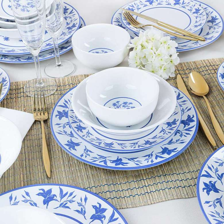 Keramika Blue Dream Yemek Takımı 24 Parça
