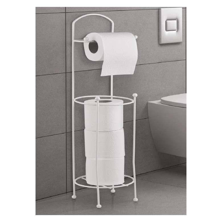 Yedekli Tuvalet Kağıtlık - Beyaz