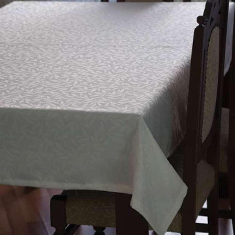 Jakarlı Masa Örtüsü 145x180 cm - Açık Beyaz