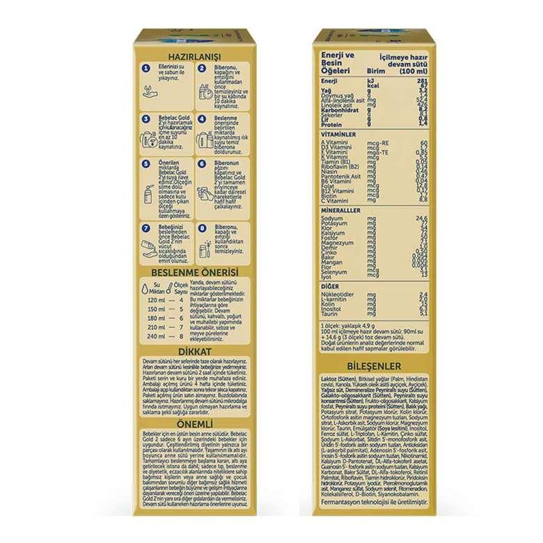Bebelac Gold 2 Devam Sütü 350 G 6-12 Ay